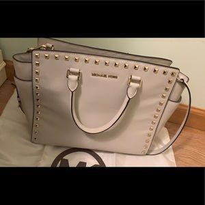 Selma Large Saffiano Studded Bag